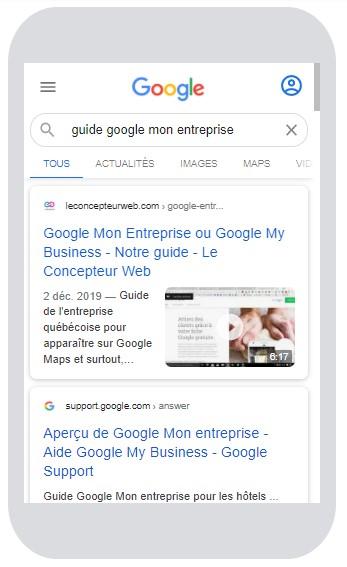 Google My Business - Google Mon Entreprise